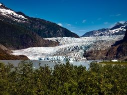 The Mendenhall Glacier is located just 12 mile