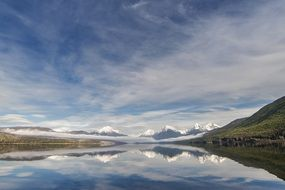 scenic landscape of lake mcdonald