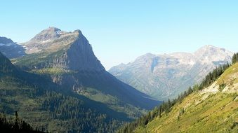 glacier national park mountain Landscape