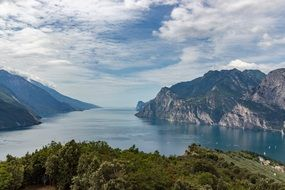 Mountains Lake Italy Garda View