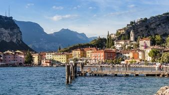 Lake View Mountains Garda Italy