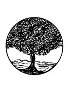 tree in a circle as an emblem
