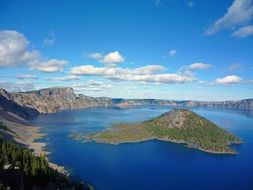 crater lake in national park