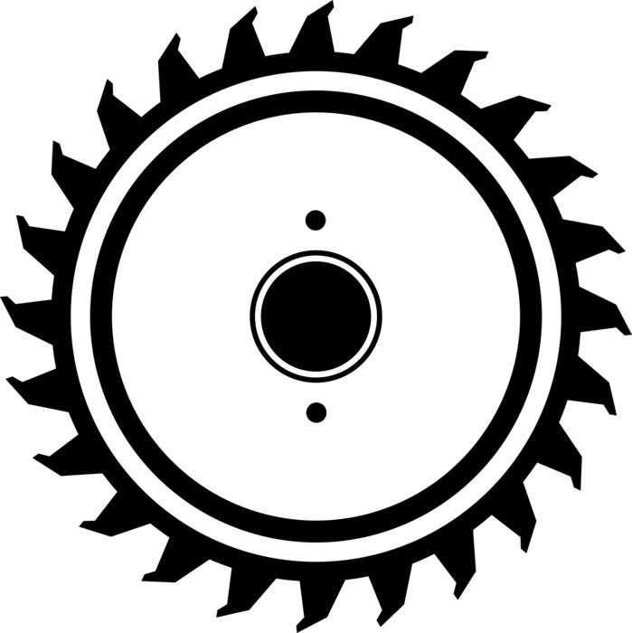 Saw Blade Circular Saw drawing