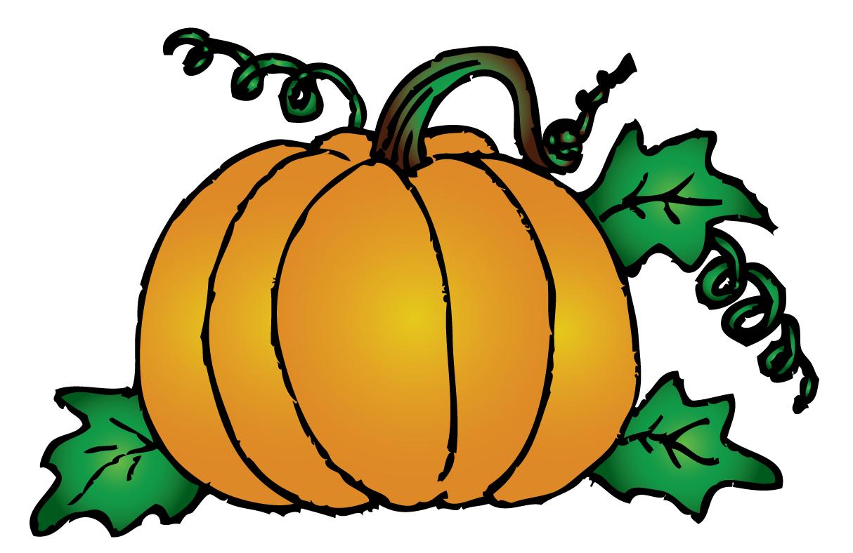 Pumpkin Vines Clip Art Drawing Free Image