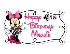 Minnie Mouse Birthday drawing