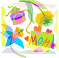 Colorful Mather's Day clipart