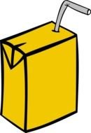 Cartoon Juice Box Clip Art