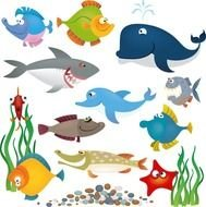 Ocean Animals Clip Art Free