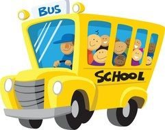 yellow Bus School drawing