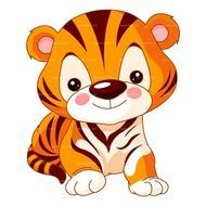 Clipart of cute Baby Tiger