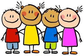 Children Clip Art drawing