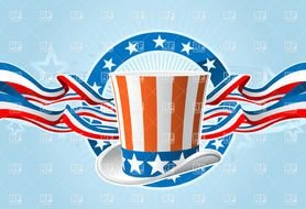 Uncle Sam Hat Clipart Fourth Of July Emblem With Top And