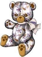 spotted teddy bear for clipart