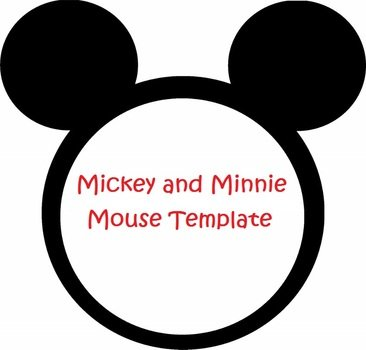 graphic relating to Free Printable Mickey Mouse Head Template named Totally free Printable Minnie Mouse Intellect Template totally free picture