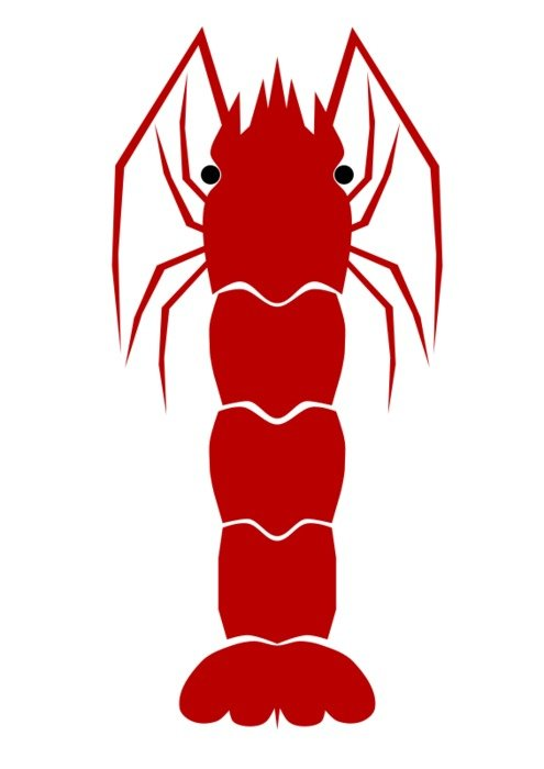 red Shrimp Clip Art drawing
