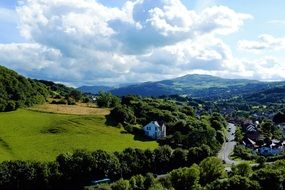 scenic summer Landscape, UK, wales, snowdonia