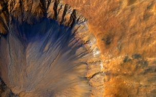 crater of a sleeping volcano