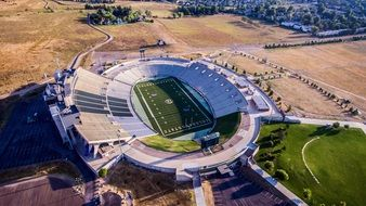 football stadium in Colorado view from above