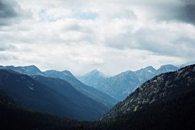 Valley in Rocky Mountains, scenic Landscape