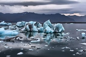 glaciers in lake water