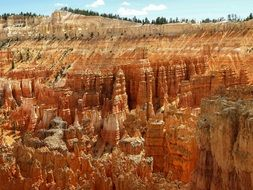 gorgeous orange rock formations, usa,Utah, Bryce Canyon National Park