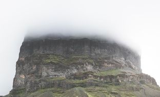 Mesa Table Mountain in rainy Cloud
