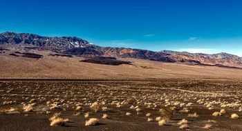 landscape of Death Valley in California