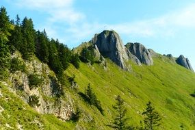 beautiful landscape of Tegelberg mountain in Bavaria