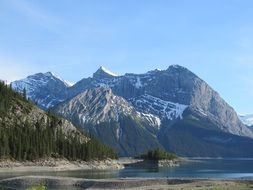 landscape of upper kananaskis lake