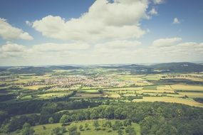 panorama of a picturesque landscape in franconian switzerland