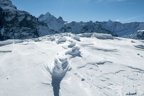 snowy swiss summit Mountains