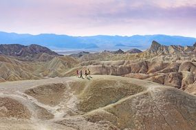 tourists in the death valley in california