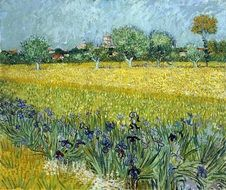 Colorful post-impressionism open french locality