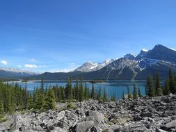 scenic upper kananaskis lake