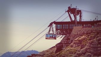 Ropeway Cableway Mountain Alps