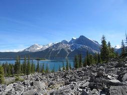 upper kananaskis lake in canada