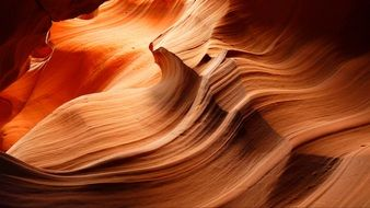 red sand in Antelope Canyon