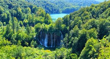 scenic waterfall in Croatia
