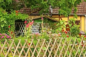garden fence in the country