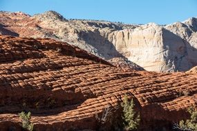 panorama of snow canyon in utah