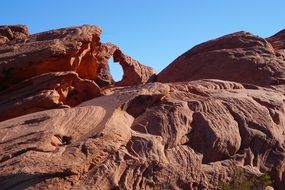 rocks in a valley of fire in nevada