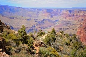 scenic landscape of mountains in grand canyon