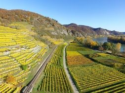 Beautiful Upper Rhine Valley in Germany