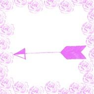 Arrow Pink drawing