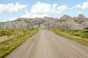 gravel road and rocks in Dakota National Park