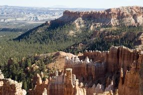 panorama of bryce canyon in utah
