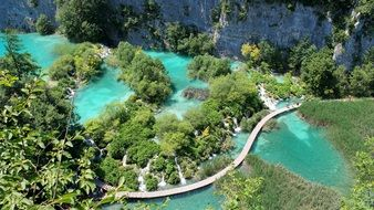 Plitvice Lakes in National Park