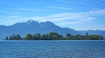 landscape of chiemsee in Bavaria