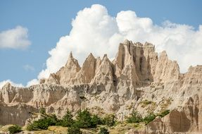 rocks in the Badlands national park